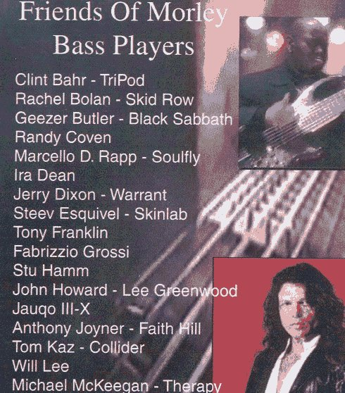 Morley Bass list with Clint Bahr first