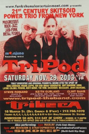 TriPod in NYC poster